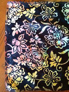 Bengkung Belly Binding  Flower Batik Black by AVDoula on Etsy