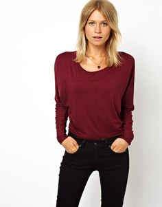 ASOS Top with Seam Detail and Long Sleeves: Top by ASOS Collection Made from a soft-touch jersey fabric. Scoop neckline. Stitch seam detail. Long sleeve styling. Regular fit. ABOUT ASOS COLLECTION. Directional, exciting and diverse, the ASOS Collection makes and breaks the fashion rules.