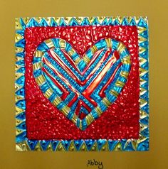 Check out student artwork posted to Artsonia from the Mexican Tin Hearts project gallery at Cathedral School. South American Art, Hispanic Art, Valentines Art, Valentine Ideas, 4th Grade Art, Tin Art, Collaborative Art, Mexican Folk Art, Teaching Art