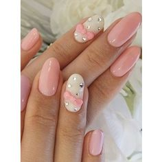 Love oval nails... Anything pink!