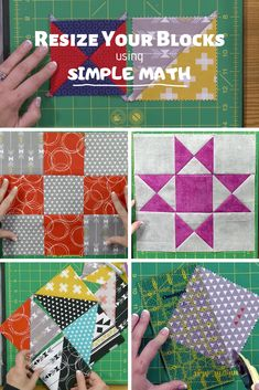Quilt Lessons: How to Resize Quilt Blocks - The Quilting Company Quilting Board, Quilting Tools, Quilting Tutorials, Quilting Projects, Quilting Designs, Sewing Projects, Quilting 101, Hand Quilting, Quilting Ideas