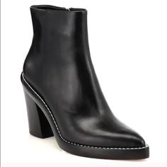 ALEXANDER WANG Kelli ankle boot Pre owned, they do have some wear on them as posted in the photos. They are not in perfect condition but they are still absolutely stunning. Cleaning out my closet and these pretty babies need a new home Alexander Wang Shoes Ankle Boots & Booties