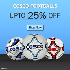 Upto 25% discount on branded Cosco Footballs. Offer for only short  duration. Free ab5125f416a18