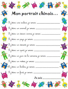 Idées de présentation des élèves pour la rentrée French Verbs, French Grammar, French Flashcards, French Worksheets, First Day Of School Activities, Writing Activities, French Teacher, Teaching French, Beginning Of School