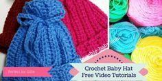 Crochet Baby Hats  Easy Video Tutorials