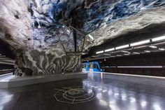 Stockholm Metro: The World's Longest Art Gallery at Stockholm art gallery | Artists, art, modern art, contemporary art, classic art, street art, all the inspirations that you need | www.bocadolobo.com #bocadolobo #luxuryfurniture #exclusivedesign #interiodesign #designideas #art #modernart #contemporaryart #artists