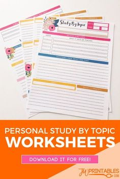 JW Personal Bible Study Sheets -Study By Topic | JW Printables