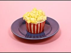 ▶ How-to Popcorn Cupcake Collab with SweetAmbs - YouTube