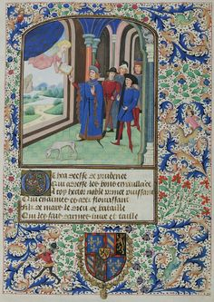 Miniatures cropped from the ~1460 manuscript containing Christine Pizan's 'Épître d'Othéa' (Epistle to Hector; sometimes known as the Book of Knighthood) - Cologny, Fondation Martin Bodmer, Cod. Bodmer 49, courtesy of the Virtual Manuscript Library of Switzerland