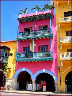 Cartagena, Colombia. Love the color.