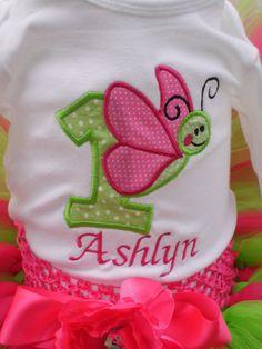 Camiseta de cumpleaños mariposa por TinasOnceUponATutu en Etsy