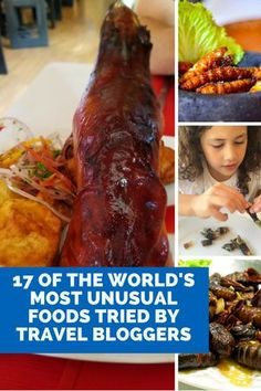 17 of the Most Unusual Foods eaten around the world.|World Food|Unusual world foods|eating bugs|fried insects|foodie finds|food around the world|global foods|unusual foods from around the world|eating in Asia|eating in the Arctic|eating live snake|fried hornets|fried bugs|eating snails in Paris|travel the world for food|food and drink around the world