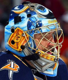 NHL Goalie Masks By Team | Patrick Lalime - Buffalo Sabres - NHL Goalie Masks by Team ('08-'09 ...