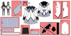 Homura Akemi ~Magical Dress~ Cosplay Design Draft by ~Hollitaima on deviantART