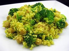 Karis' Kitchen: A Vegetarian Food Blog: Curried Broccoli Couscous