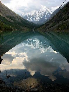 Lower Shavlinskoe Lake. Altai, Russia