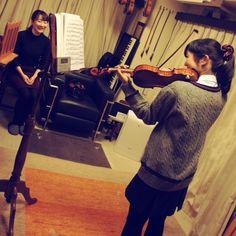 バイオリンレッスン風景