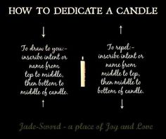 How to dedicate a candle.