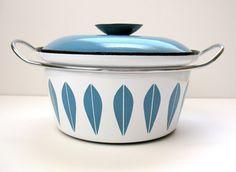 Cathrineholm Cornflower Blue Lotus Enamelware Pot  by peachbutton, $90.00