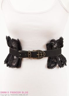 Fashion DIY Tutorial: Spice Up a Belt with Lace