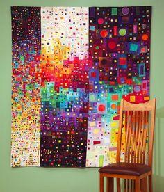 beautiful rainbow quilt