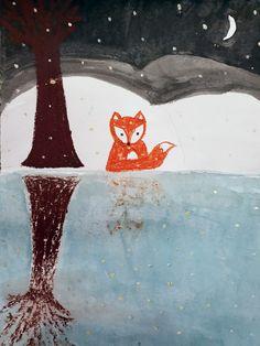 Co vidí liška ve vodě? Zero, Painting, Painting Art, Paintings, Painted Canvas, Drawings