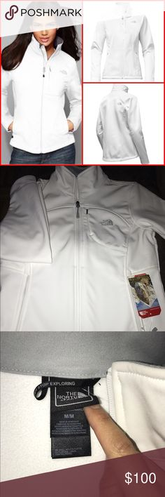 New North Face Apex bionic jacket New with tags!! Size M. - Reg Price $149  Standard fit  TNF™ Apex ClimateBlock fabric wind permeability rated at 0 CFM (100% windproof)  Fleece backer  Napoleon chest pocket  Two hand pockets  Hem cinch cord  Internal stretch cuffs  Product Attributes Type: Jackets Outer Shell: plain weave polyester TNF Apex ClimateBlock Colors: TNF White North Face Jackets & Coats