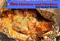 Made this tonight for supper! BBQ Chicken and Cheddar Foil Packet Dinner (I forgot to add the cheese but it was still tasty). One addition I made: added unsalted butter to each packet, approx. 2 tsp each) Foil Packet Dinners, Foil Pack Meals, Foil Dinners, Grilling Recipes, Cooking Recipes, Budget Recipes, Oven Recipes, Budget Meals, Recipies