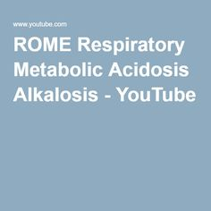 1000 Ideas About Metabolic Acidosis On Pinterest
