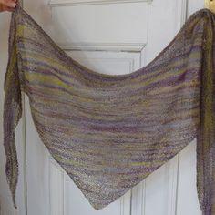 Sticka en enkel och luftig sjal | Hobby och hantverk | svenska.yle.fi Stick O, Textiles, Knitting Patterns, Diy And Crafts, Knit Crochet, Blog, Handmade, Shawl, Caps Hats