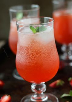 Strawberry Basil Sparkler: Pinnacle Whipped Vodka, Strawberry Syrup (recipe), Sparkling Water Or Club Soda, Lemon Juice, Basil Leaves, Sliced Strawberries.