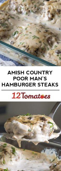 Amish Country Poor Man's Hamburger Steaks