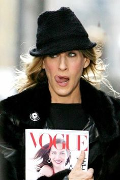 My Bradshaw my Idol. Carrie with The #Vogue magazine, lol woman.