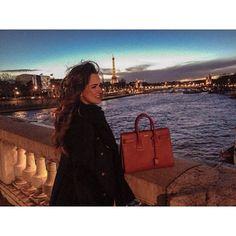 Paris day with Yves Saint Laurent Sac De Jour. Now you can with www.rentfashionbag.com #handbags to #rent!
