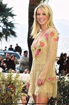 I have always LOVED this dress!! When I worked at the bank, Deborah made me a cake with this picture on it.. That was like in.. 2003???   Britney before the NRJ Awards in 2002.