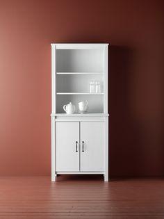 BRUSALI hoge kast met deur | #IKEAcatalogus #nieuw #2017 #IKEA #IKEAnl #keuken #woonkamer #wit #servies #kast #deur