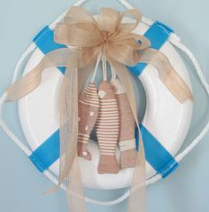 Nautical Wreath Made From Life Preserver.