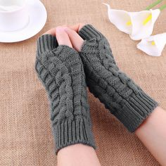 [BOGO] Soft and Warm Knitted Fingerless Gloves