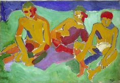 Andre Derain, Three Figures Sitting on the Grass, 1906