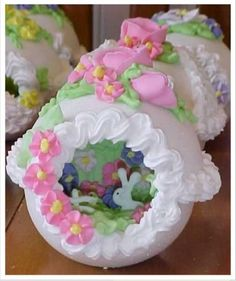 How to make sugar eggs for Easter- a tutorial for making Sugar Eggs for Easter with a panoramic scene inside. Description from pinterest.com. I searched for this on bing.com/images