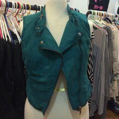 H&M Suede Vest H&M Green Suede Vest H&M Jackets & Coats Vests