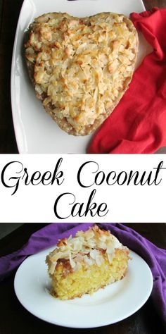 This Greek Coconut Cake is sweet, delicious, full of coconut and oh so moist.  It is a must make for all of the coconut lovers in your life!