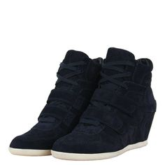 Ash 84945 Bea Bis Womens Wedge Hi Top Trainers AW12 Midnight from www.hypedirect.com Sports Footwear, Wedge, Trainers, Sneakers, Shoes, Women, Fashion, Tennis, Tennis