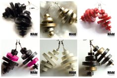 MAdd Gioielli di carta / MAdd Paper jewels: FLAT EARRINGS / ORECCHINI LISCI