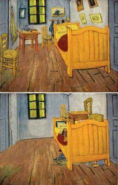 "Ursus Wehrli, Tidying Up Art. Vincent Van Gogh ""Bedroom in Arles"" http://www.demilked.com/tidying-up-art-ursus-wehrli/"