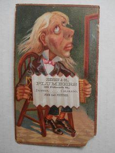 Johnson Co Plumbers Denver Colorado Antique Victorian Advertising Card | eBay
