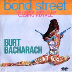 "Burt Bacharach – Bond Street Dalla Colonna Sonora del Film ""Casino Royale"" Label: DB 5180 Derby Country: Italy Released: 1967 Vinyl Cover, Casino Royale, Film Posters, Music Albums, Cool Wallpaper, James Bond, Soundtrack, Spy, Vinyl Records"