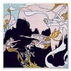Art Deco Mermaids Print