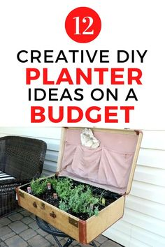 Decorating on a budget can be fun with these cheap DIY planter ideas. Using recycled or repurposed or dollar store materials these indoor and outdoor planter ideas will get your creative juices flowing. #diy #planter #flowerpots Resin Planters, Decorative Planters, Outdoor Planters, Concrete Planters, Diy Planters, Mosaic Flower Pots, Vertical Planter, Planter Ideas, Garden Types