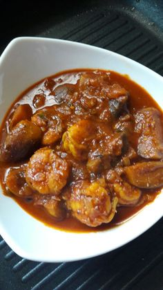 Shrimp Eggplant Curry: Shrimp and eggplant make a surprisingly good combination. The eggplant's soft texture with the shrimp's briny flavor work so well together. I recently ate eggplants stuffed with shrimp …